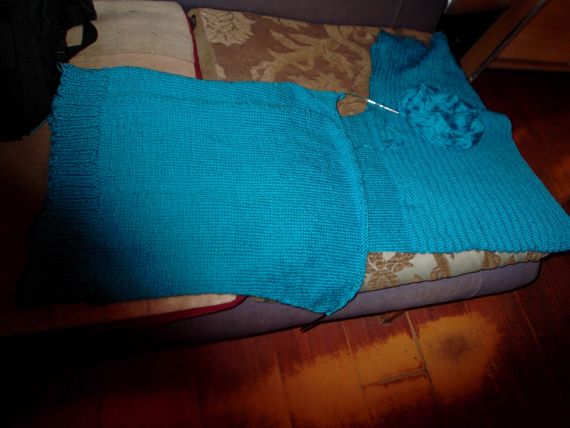 Food, kniting, me and wine 011