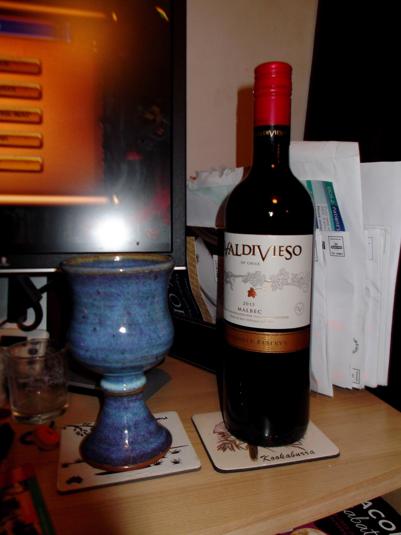 Food, kniting, me and wine 002
